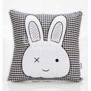 Almofada Bunny Xadrez Preto