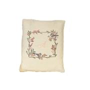 Almofada de Encosto para Poltrona de Amamentação Bordado Flores