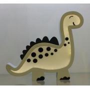 Luminária Infantil Dinossauro Cinza com Preto