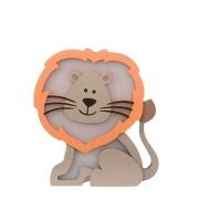 Luminária Infantil Leão com Juba Colorida