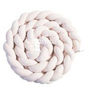 Protetor trança mini berço 2,45m plush - rosa