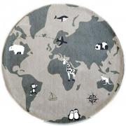 Tapete Coleção Dreams Mapa Mundi Redondo