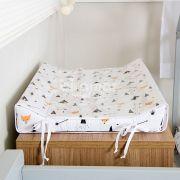 Trocador Anatômico para Bebê Estampado Fox Preto