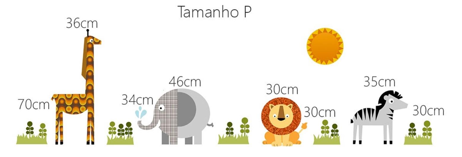 Adesivo de Parede Infantil Animais Africanos