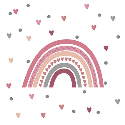 Adesivo de Parede Infantil Arco Íris Colorido