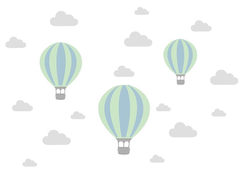 Adesivo de Parede Infantil Balões Personalizados