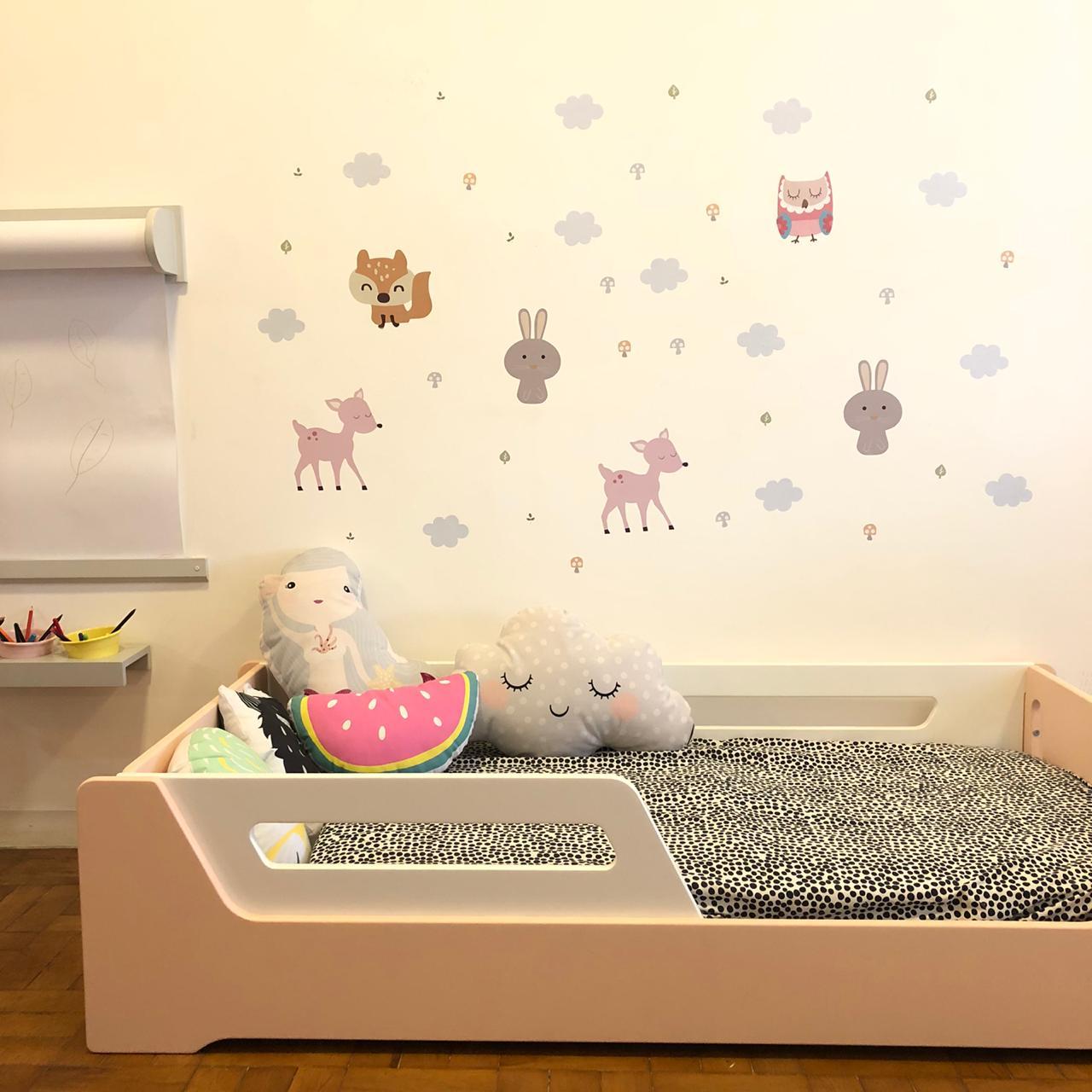 Adesivo de parede Infantil Bichos Fofos