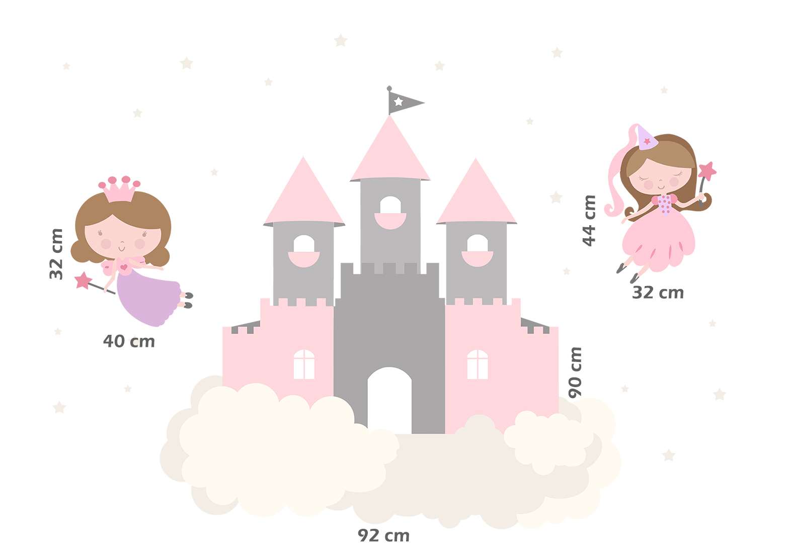 Adesivo de Parede Infantil Castelo Encantado