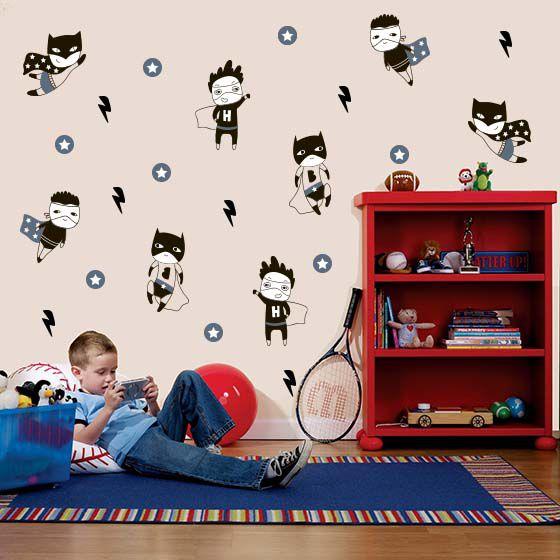 Adesivo de parede infantil Little Heroes