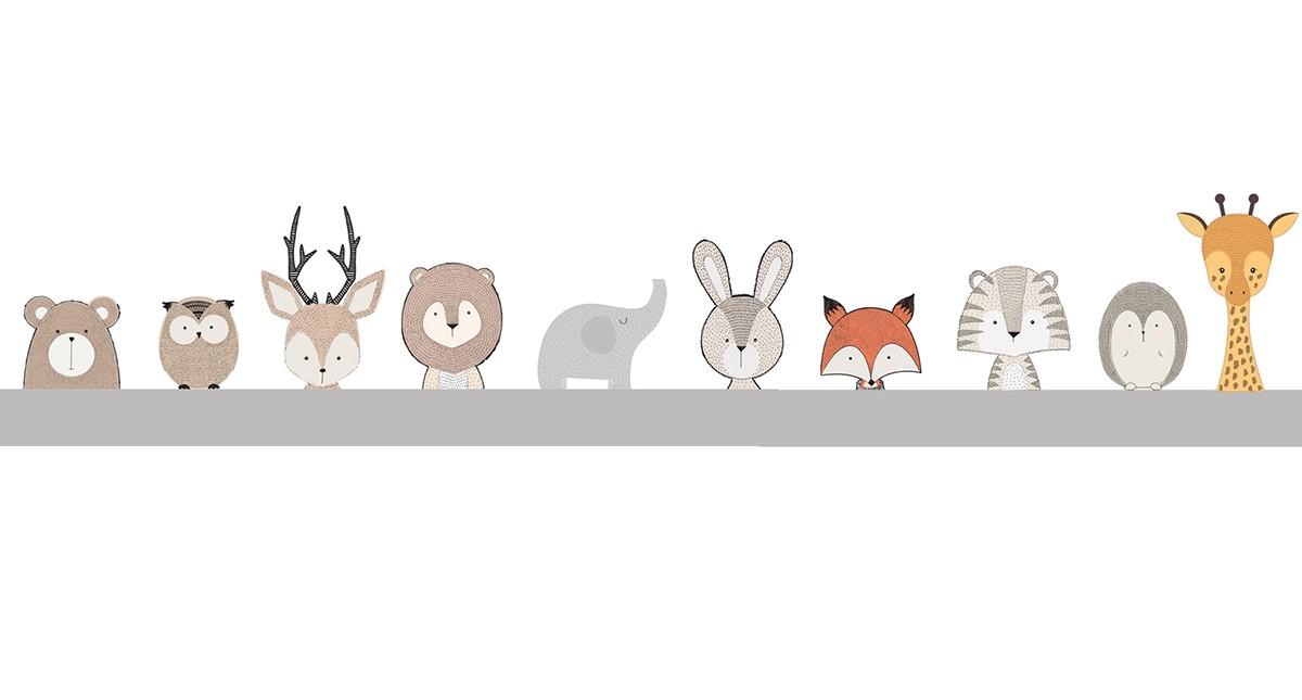 Adesivo de parede Infantil Safari Animado