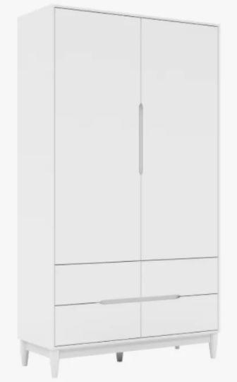 Armário Tomi 2 portas e 4 gavetas- Branco