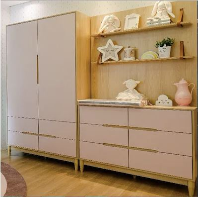 Armário Tomi 2 portas e 4 gavetas- Colorido