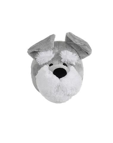 Cabeça de Cachorro Schnauzer para Decoração de Parede