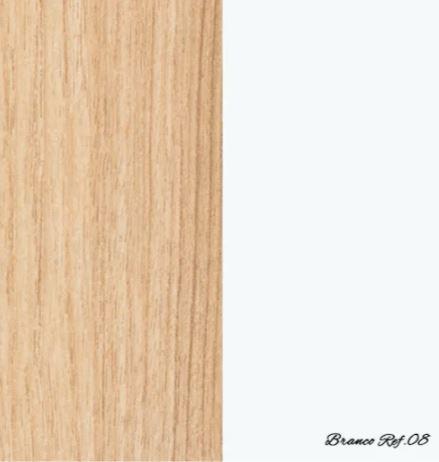 Cômoda Evolutiva com 4 gavetas e porta lateral- Branco com carvalho malva