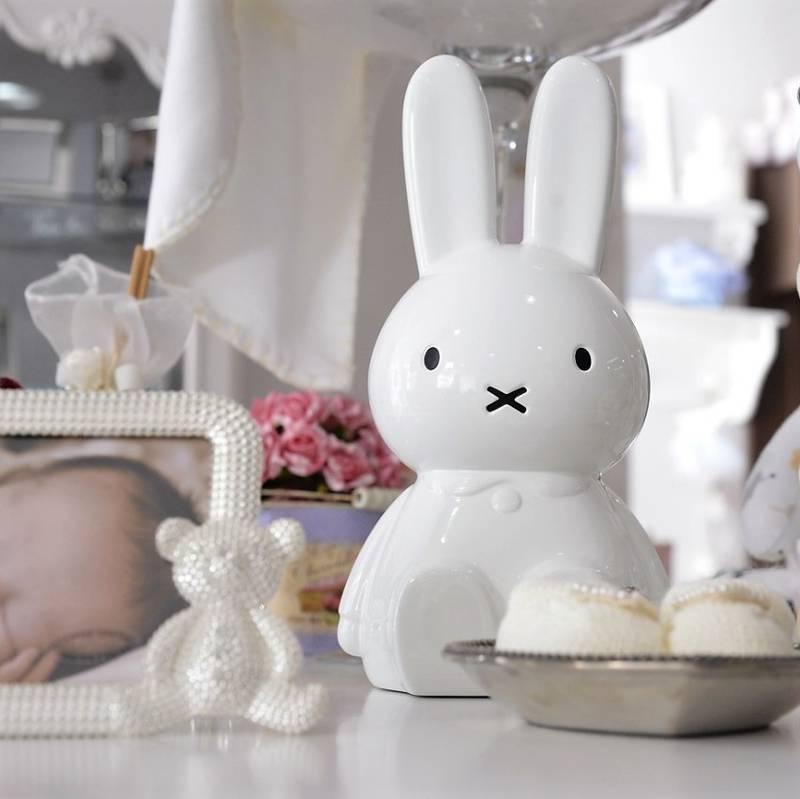 Enfeite Coelha Miffy Laqueada Branca
