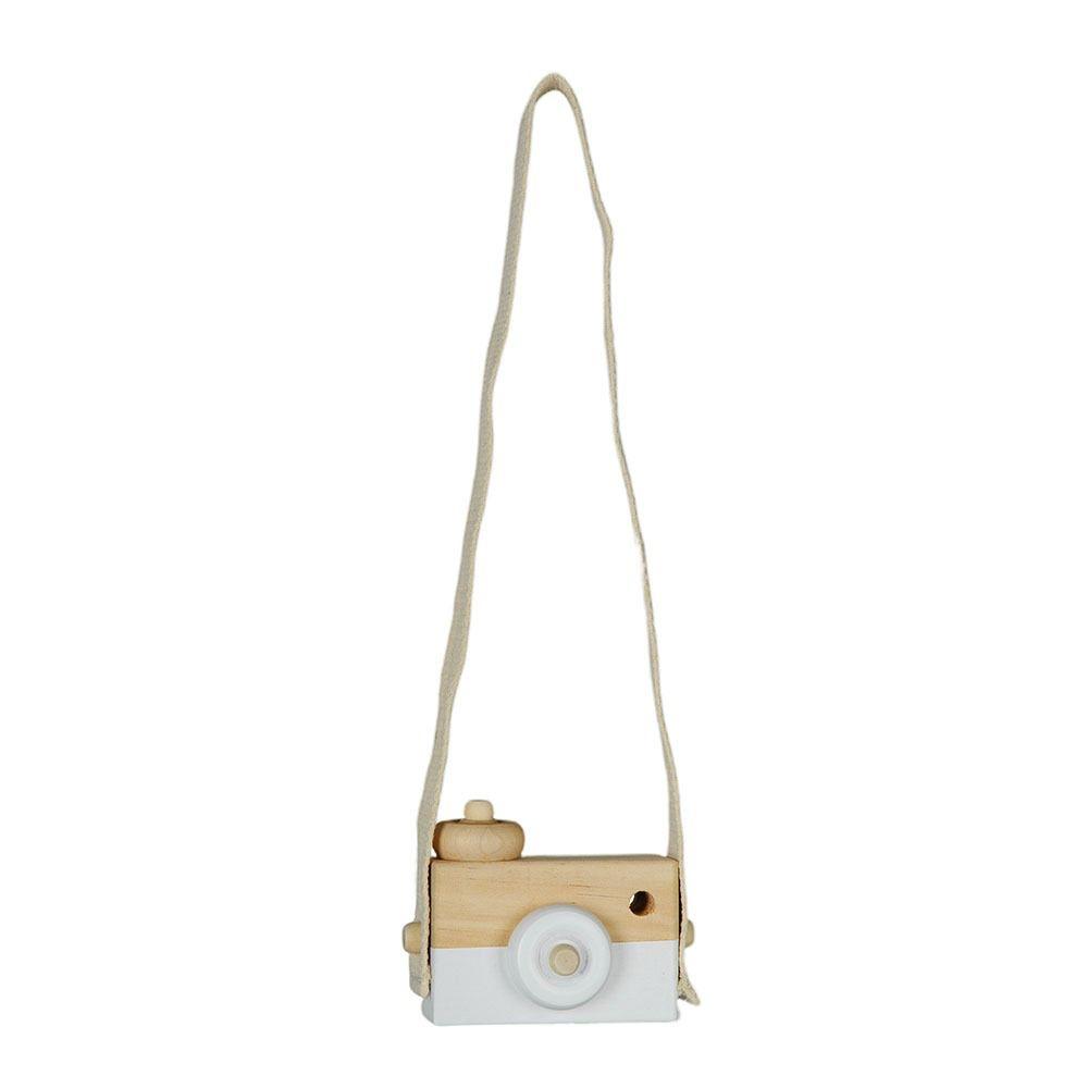 Escultura máquina fotográfica branca
