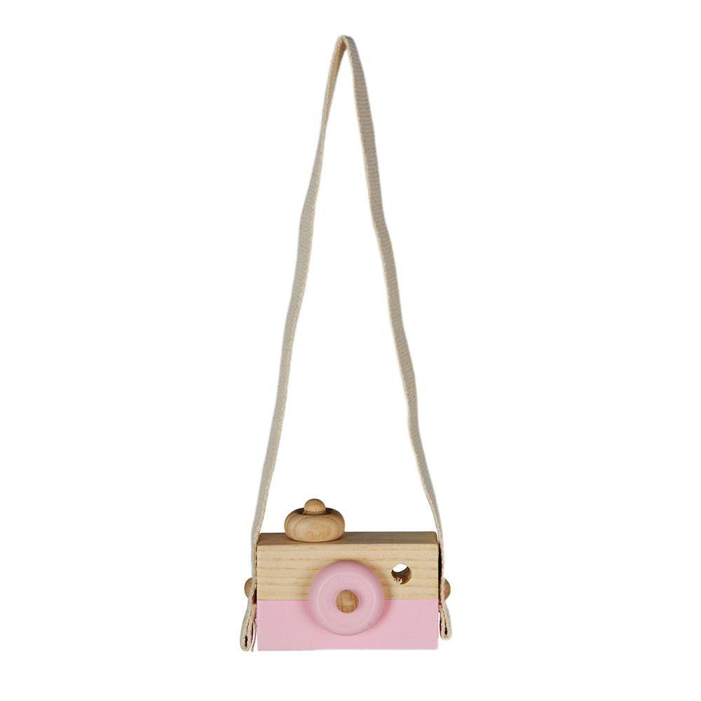 Escultura máquina fotográfica rosa
