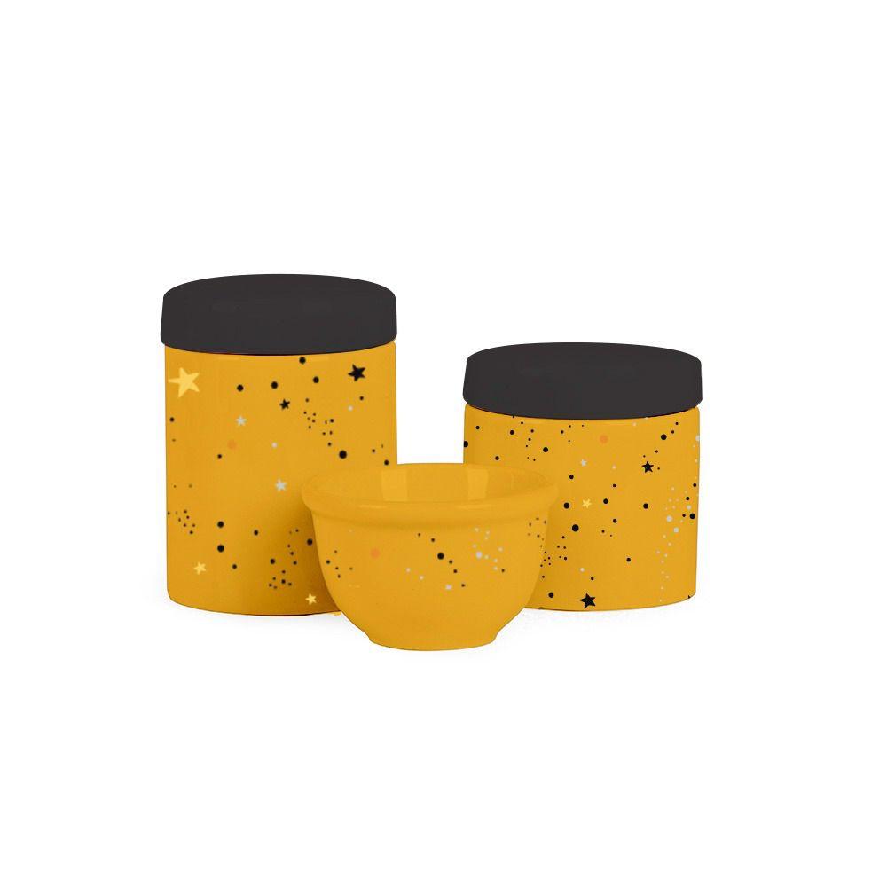 Kit Higiene Universo amarelo mostarda