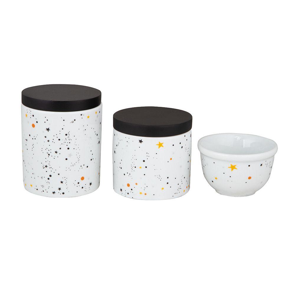 Kit Higiene Universo Preto e Branco