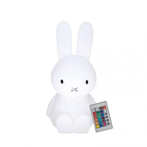 Luminária Coelha Miffy LED RGB com Fio
