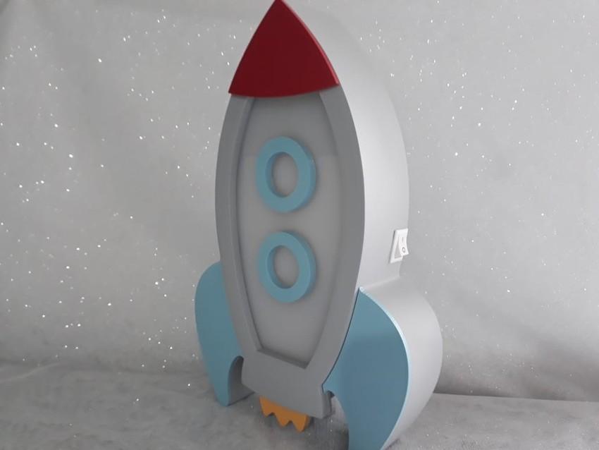 Luminária Infantil Foguete