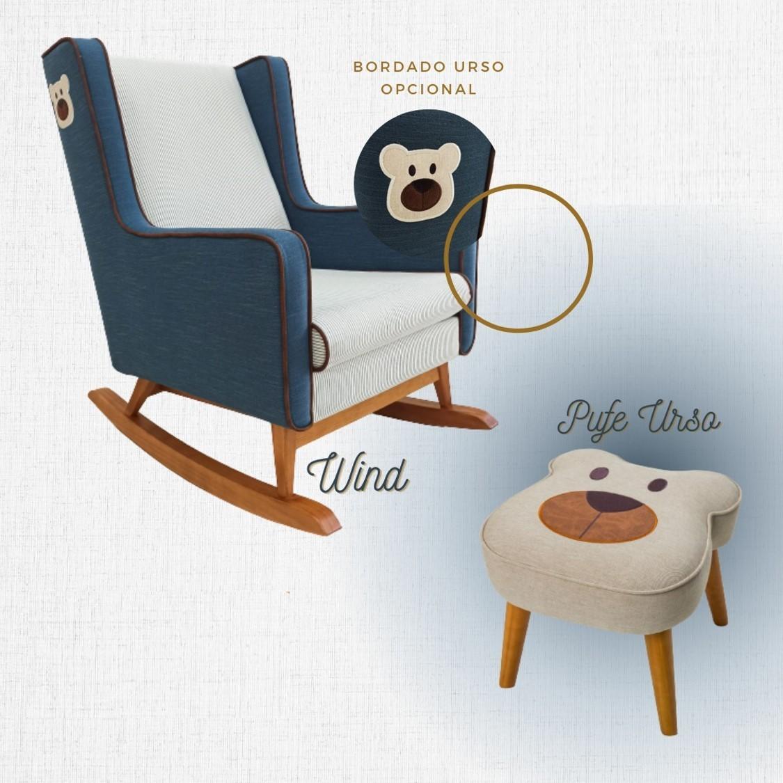 Poltrona de Amamentação Wind Urso