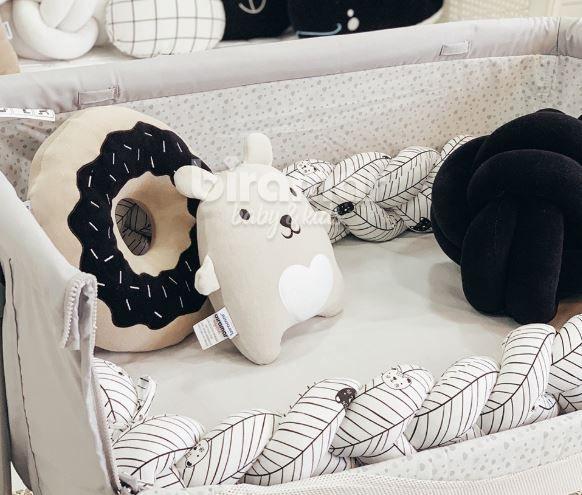 Protetor trança berço/cama 3.90m - Aisha preto
