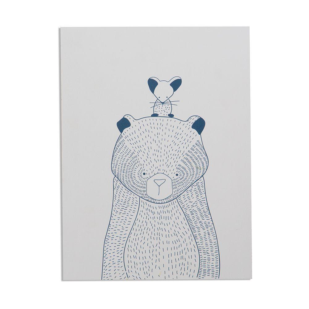 Quadro Urso e Ratinho
