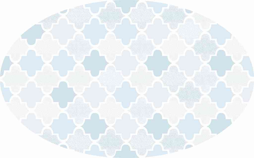 Tapete Arabesco azul
