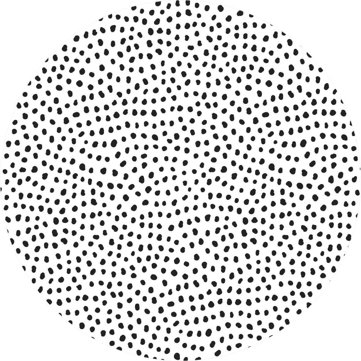Tapete Spots preto e branco