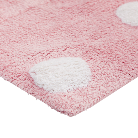 Tapete Lorena Canals Topos Rosa 120 X 160
