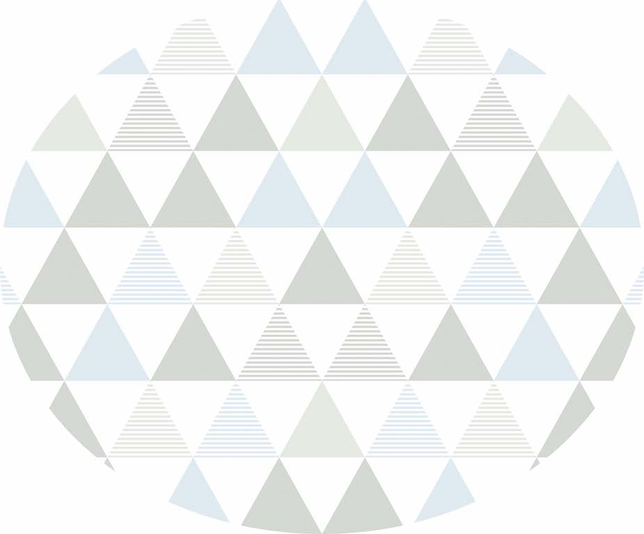 Tapete triângulos azul