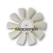 Hélice Ventilador O355/6 10 Pás  Plástico  Motor Traseiro