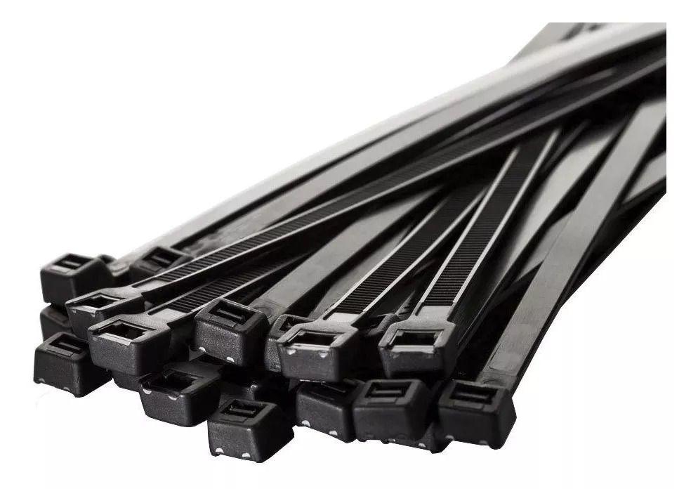Abraçadeira Fita Ziper Nylon Grande 39cm c/ 50 unid.