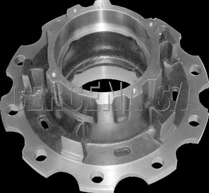 Cubo de Roda Truck L1519 Em Diante Rolamento 32218 6 Furos