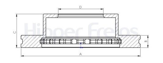 Disco Freio F250/350 Trás Todas