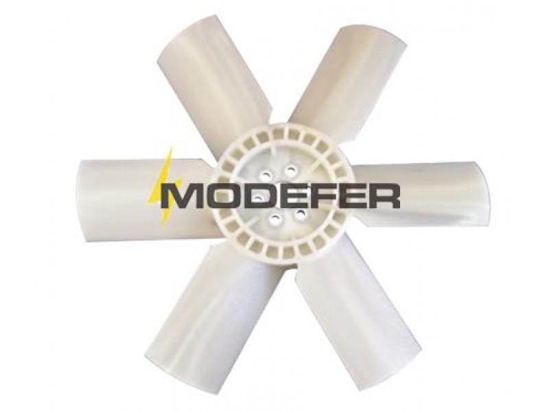 Hélice Ventilador L1113/ Plástico 6 Pás Furo Menor