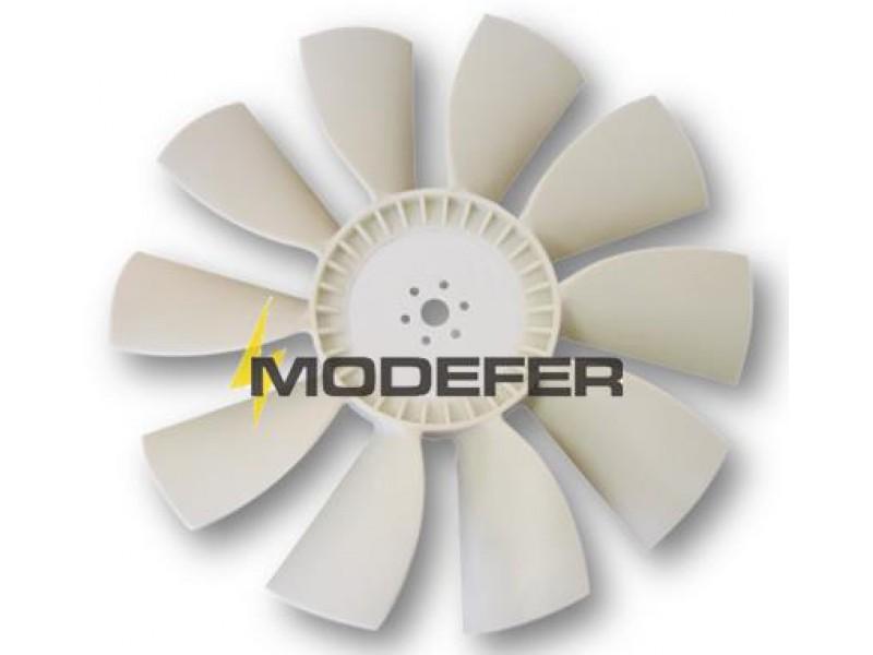 Hélice Ventilador O355/5 10 Pás Plástico Motor Traseiro