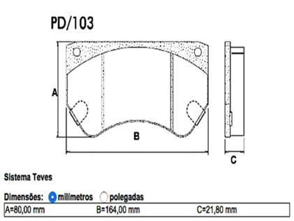 Pastilha Freio D40 / GMC6000 / 6150 Disco Ventilado