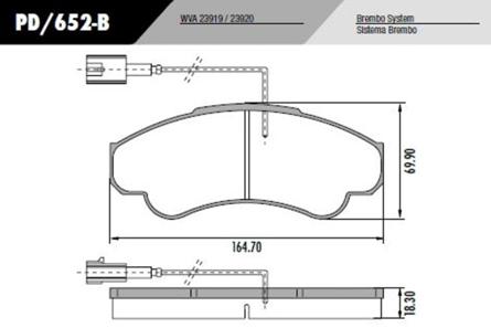 Pastilha Freio Ducato 2.8 cargo/maxi 2002 em diante