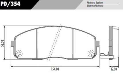 Pastilha freio Hyundai HR 2.5 08 em Diante - Sistema Sumitomo