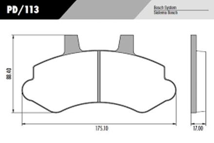 Pastilha Freio Silverado 99 em diante - Disco Ventilado - Sistema Bosch