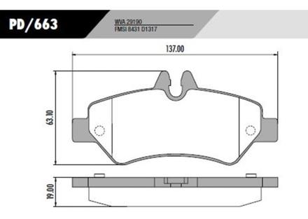 Pastilha Freio Sprinter 311 CDI 2012 em diante - Disco Ventilado – Sistema Bosch
