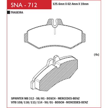 Pastilha Freio Sprinter 312 98 em diante - Sistema Bosch – Disco Ventilado