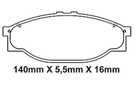 Pastilha Freio Topic 2.2 08 em diante - Sistema Akebono – Disco Ventilado