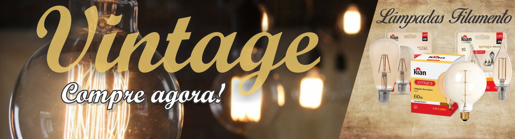 Confira lâmpadas filamento estilo vintage/retrô!