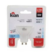 Lâmpada Kian LED MR16 4W Branca Morna 3000K GU10 100-240V