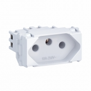 MÓDULO TOMADA 2P+T 10A 250V BRANCO EQUILLE
