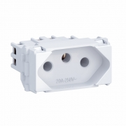 MÓDULO TOMADA 2P+T 20A 250V BRANCO EQUILLE