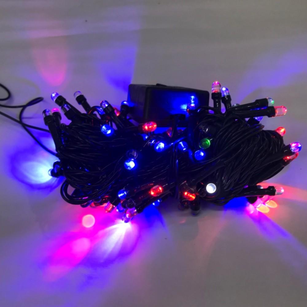 CORDÃO SEQUENCIAL 100 LEDs FIO VERDE 9 METROS COLORIDO 220V